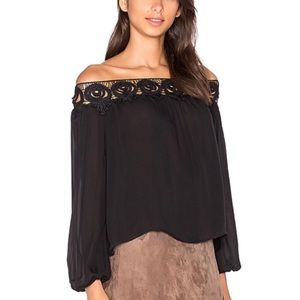 NWT Stone Cold Fox Kyoto Silk Off Shoulder Top